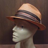 ビンテージ70's●mac phergusストローハットsize 7●210204n3-m-ht-str麦わら帽子メンズ帽子レトロUSA
