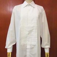 ビンテージ70's●after SIX フレンチカフスプリーツドレスシャツ白 Size 15 1/2●200709s5-m-lssh-drs ワイシャツ古着