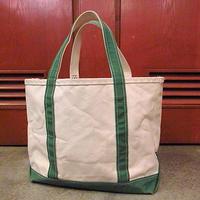 L.L.Bean キャンバストートバッグ緑 M●200716s9-bag-tt エルエルビーントートアウトドアカバン無地