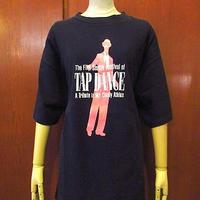 ビンテージ90's●The Fifth seattle Festival of TAP DANCE両面プリントTシャツ黒size XL●201108s6-m-tsh-otタップダンス古着コットンUSA