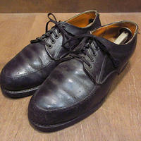 ビンテージ90's●MASONポストマンシューズ黒●210312n6-m-dshs-26cm革靴ドレスシューズUチップ古靴メンズUSAブラックレザーシューズ