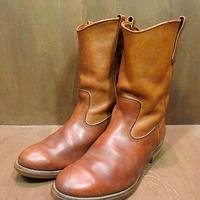ビンテージ70's80's●RED WING プリント羽根タグペコスブーツ茶 Size 10 1/2EE ●200909n5-m-bt-285cm USAレッドウィング古靴