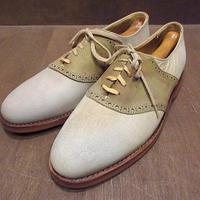 ビンテージ●COLE-HAANツートンサドルシューズ●210312n7-m-dshs-28cmコールハーン革靴メンズコンビシューズヌバックレザーUSA製