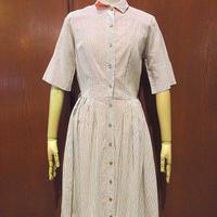 ビンテージ60's70's●Puritanストライプ半袖ワンピース●210530s8-w-ssdrs 1960s1970s古着レディース女性用ドレス