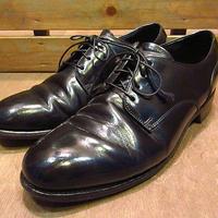 ビンテージ70's●BOSTONIANプレーントゥシューズ黒7 1/2 E/C●200630n7-m-dshs-255cm 1970sボストニアンドレスシューズ革靴