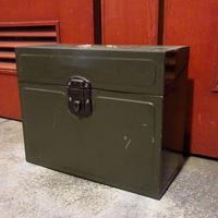ビンテージ~70's●インダストリアルメタルボックス●210416s7-bxs 収納雑貨インテリアディスプレイ箱金属製