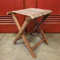 ビンテージ~60's●ストライプアウトドアフォールディングチェア●200529s7-otdeqp キャンプイス椅子雑貨折りたたみ