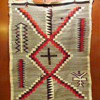ビンテージ~40's●ナバホラグ 153cm×115cm●210219s8-rug インディアンネイティブアメリカン民族マットインテリア