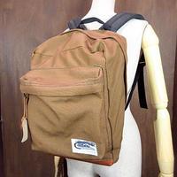 ビンテージ80's●Caribou Mountaineering ボトムレザーバックパック茶●200620n6-bag-bpアウトドアリュックデイパックカバン