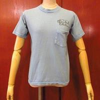 ビンテージ70's●Gone With the WindポケットTシャツ水色sizeS●200604f8-m-tsh-ot古着半袖シャツポケT風と共に去りぬUSAコットン