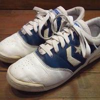 ビンテージ80's●CONVERSEレザースニーカー白×青6 1/2●210623i14-w-snk-24cm 1980sコンバースレディース