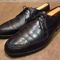 ビンテージ50's60's●Uチップシューズ黒8 1/2 C●201105n5-m-dshs-27cm 1950s1960sドレスシューズ革靴メンズ