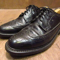 ビンテージ80's●Dexterウィングチップシューズ黒9 D●210208n3-m-dshs-275cm 1980s革靴ドレスシューズオックスフォードシューズ