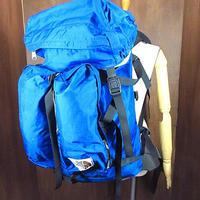 ビンテージ80's●THE NORTH FACE茶タグナイロンフレームパック青size L●210216n8-bag-bpバックパックアウトドア登山ノースフェイス