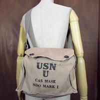 ビンテージ40's●U.S.NAVY NDO MARK 1 ガスマスクバッグ●210217n4-bag-shd USNショルダーバッグカバン米軍実物