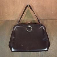 ビンテージ40's50's●Eliteレザーハンドバッグ焦げ茶●200623n4-bag-hnd 1940s1950sレディース鞄ブラウン