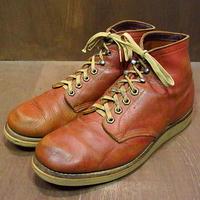 """ビンテージ60's●REDWING プリント羽根タグ """"TUFFY""""ワークブーツ茶 Size 8D●201021n2-m-bt-26cm レッドウィング革靴"""