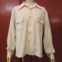 ビンテージ40's●Duke of HOLLYWOODチェーンステッチループカラーシャツsizeM●200727f2-m-lssh-lp古着開襟シャツオープンカラーシャツ