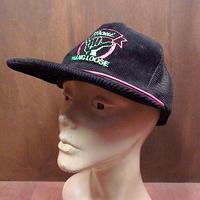 ビンテージ80's90's●maui HANG LOOSE コーデュロイメッシュキャップ黒●201125n5-m-cp-bb スナップバックハワイアン帽子