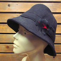 ビンテージ●Hanna Hatsウールハット黒size L●210226n1-m-ht-flt古着ブラック帽子ソフト帽バケットハットアイルランド製