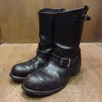 ビンテージ●TEXAS STEERスチールトゥエンジニアブーツ黒10●210404n1-m-bt-28cm メンズ靴ワークレザー