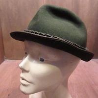 ビンテージ70's●HUT-BREITER MUNCHENチロリアンハット深緑●210124n5-m-ht-flt 1970sフェルトハットソフト帽中折れ帽グリーン