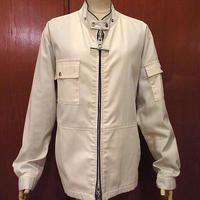 ビンテージ70's80's●MIGHTY・MACジップアップジャケット白●201017f9-m-jk-ot古着アウターマイティーマックメンズUSA製