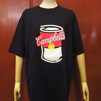 ビンテージ90's●DEADSTOCK Campbell'sプリントTシャツ黒size L●201121f3-m-tsh-ot古着半袖シャツUSA製キャンベルスープ食品コットン