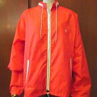 ビンテージ70's●Grand Slam Munsingwearナイロンジップアップジャケット赤size L●200816s8-m-jk-nylマンシングウェアグランドスラム