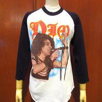 ビンテージ80's●DEADSTOCK DIO THE LAST IN LEINE TOUR両面プリントラグランTシャツsize L●210515s2-m-tsh-bnディオ音楽ツアー