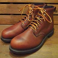 ビンテージ90's●DEADSTOCK PT91ワークブーツ茶Size9A●210505s14-m-bt-27cm 1990sデッドストックメンズ靴レザー