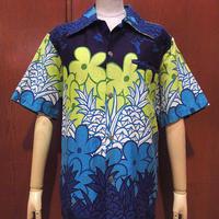 ビンテージ70's●Sears花柄ハワイアンシャツ●210614s6-m-sssh-hw 1970sシアーズ古着メンズトップス半袖シャツUSA