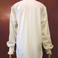 ビンテージ70's●L&MFashionsフレンチカフスプリーツドレスシャツ白size S5●200927s3-m-lssh-drsワイシャツ古着ホワイトUSA長袖シャツ