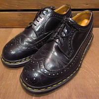 MADE IN ENGLAND Dr.Martensウイングチップ5ホールシューズ黒size 7●201218n7-m-dshs-25cmイングランド製ドクターマーチンレザー革靴