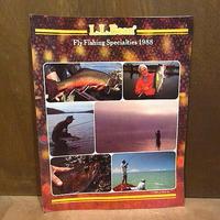 ビンテージ80's●L.L.Bean 1988年フライフィッシングカタログ●210202n4-otclct 1980sエルエルビーンアウトドア釣り雑誌本資料