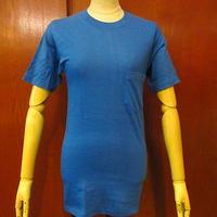 ビンテージ80's●DEADSTOCK JOCKEYポケットTシャツ青sizeS●200626f1-m-tsh-pl古着ジョッキーポケT無地半袖シャツUSA製