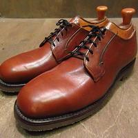 ビンテージ80's●DEADSTOCK LEHIGH PT83スチールトゥシューズ茶9 1/2 E●200924n3-m-dshs-28cm 1980sデッドストックドレスシューズ革靴