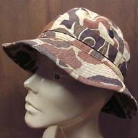 ビンテージ70's80's●カモフラージュコットンサファリハットsize M●210618n6-m-ht-ot 1970s1980sアウトドアバケットハット迷彩帽子