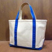 L.L.Bean キャンバストートバッグ青 M●201212n6-bag-tt エルエルビーントートカバンアウトドア
