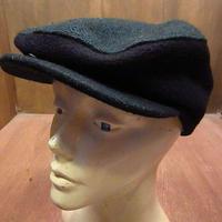 ビンテージ90's●NO FEARツートンウールハンチング帽深緑×黒S/M●201005n3-m-cp-htg 1990sノーフィアーメンズキャップ帽子