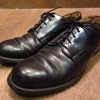 ビンテージ70's●U.S.NAVYレザーソールサービスシューズ7R●201029n2-m-dshs-255cm 1970sミリタリー米軍実物USN革靴