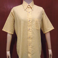 ビンテージ70's●VAN HEUSEN半袖ボタンダウンドレスシャツ黄size 14 1/2●210530f1-m-sssh-hpe古着メンズUSAヴァンヒューゼンBDシャツ