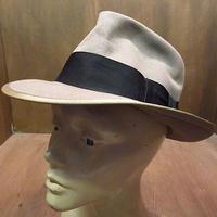 ビンテージ40's●Bondフェドラハットベージュ7 1/4●201112n7-m-ht-flt 1940sフェルトハットソフト帽メンズ薄茶ワイドブリム