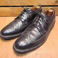 ビンテージ80's●ウィングチップシューズ黒size 9B●201127n6-m-dshs-27cm革靴古靴ビジネスシューズドレスシューズUSA製ブラック