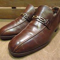 ビンテージ70's●FLORSHEIM IMPERIALレザービットローファー茶8D●200609n6-m-lf-265cm 1970sフローシャイム革靴