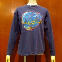 ビンテージ80's●Grateful Dead 1986 New Years Eve 長袖Tシャツ紺●210423s1-m-tsh-bn グレイトフルデッドバンドライブ音楽ロンT
