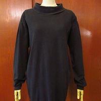 ビンテージ60's●コットンタートルネック長袖Tシャツ黒size XL●200905f5-m-lstsh古着ロンTインナーUSAブラック