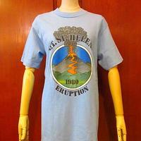 ビンテージ80's●Mt. St. Helens Eruption プリントTシャツ Size M●200731s1-m-tsh-ot セントヘレンズ噴火半袖メンズ古着