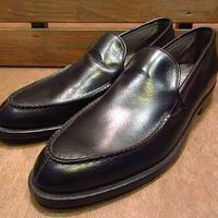 ビンテージ50's●DEADSTOCK Bondshireヴァンプローファー黒8 1/2 B●200709n1-m-lf-27cm 1950sデッドストック革靴メンズコブラヴァンプ