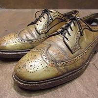 ビンテージ70's●FLORSHEIM IMPERIALウィングチップシューズ8 C●210128n2-m-dshs-27cm 1970sフローシャイム革靴ドレスシューズ